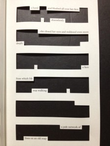 "Page from Jonathan Safran Foer's ""Tree of Codes"""
